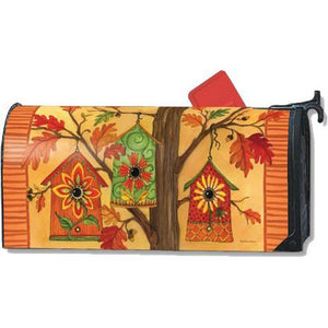 Fall Birdhouses Standard Mailbox Cover - FlagsOnline.com by CRW Flags Inc.