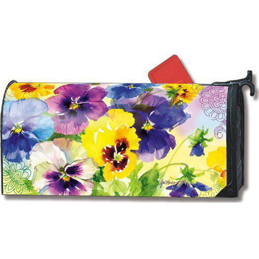 Mixed Pansies Standard Mailbox Cover DISCONTINUED