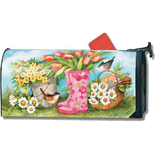 Garden Boots Standard Mailbox Cover - FlagsOnline.com by CRW Flags Inc.