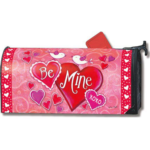 Be Mine Birds Standard Mailbox Cover