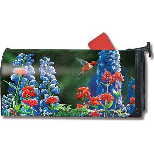Hummingbird Flight Standard Mailbox Cover