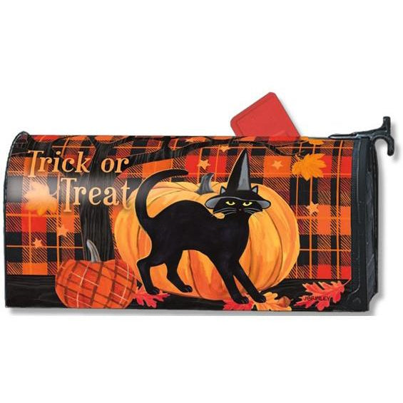 Witch Hat Cat Standard Mailbox Cover - FlagsOnline.com by CRW Flags Inc.