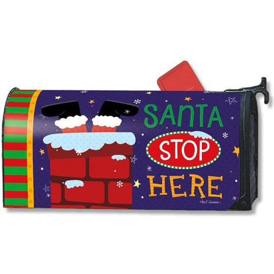 Santa Stop Here Standard Mailbox Cover - FlagsOnline.com by CRW Flags Inc.