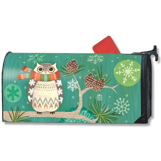 Winter Owl Standard Mailbox Cover