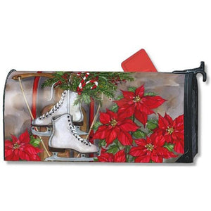 Sled and Skates Standard Mailbox Cover - FlagsOnline.com by CRW Flags Inc.
