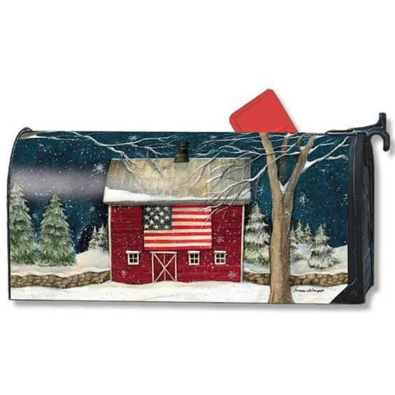 Winter Barn Standard Mailbox Cover - FlagsOnline.com by CRW Flags Inc.