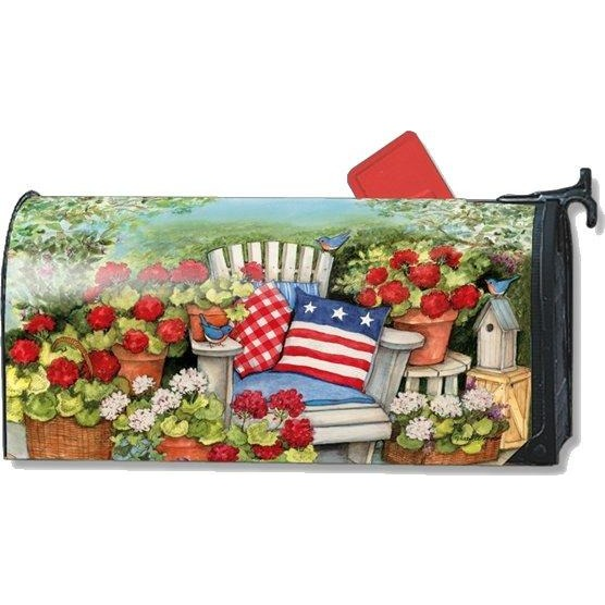 Patriotic Pillows Standard Mailbox Cover