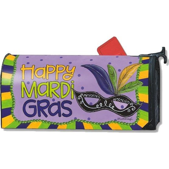Mardi Gras Standard Mailbox Cover - FlagsOnline.com by CRW Flags Inc.