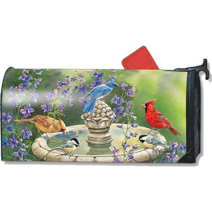 Birdbath Gathering Standard Mailbox Cover - FlagsOnline.com by CRW Flags Inc.
