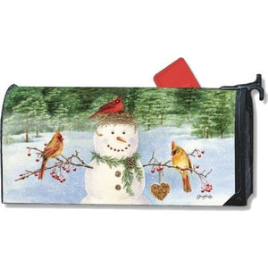 Snowman Bird Feeder Standard Mailbox Cover - FlagsOnline.com by CRW Flags Inc.