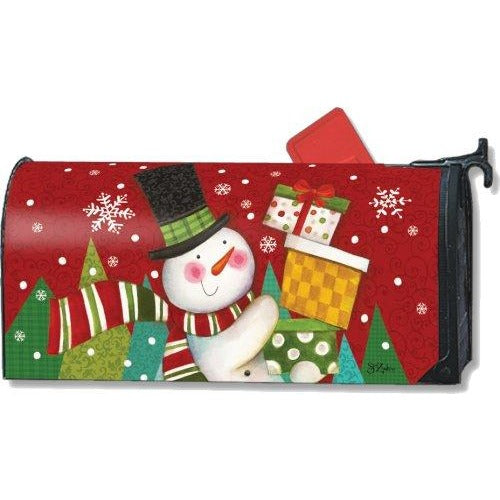 Happy Snowman Standard Mailbox Cover - FlagsOnline.com by CRW Flags Inc.