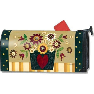 Primitive Posies Standard Mailbox Cover - FlagsOnline.com by CRW Flags Inc.