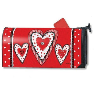 Button Valentine Standard Mailbox Cover - FlagsOnline.com by CRW Flags Inc.