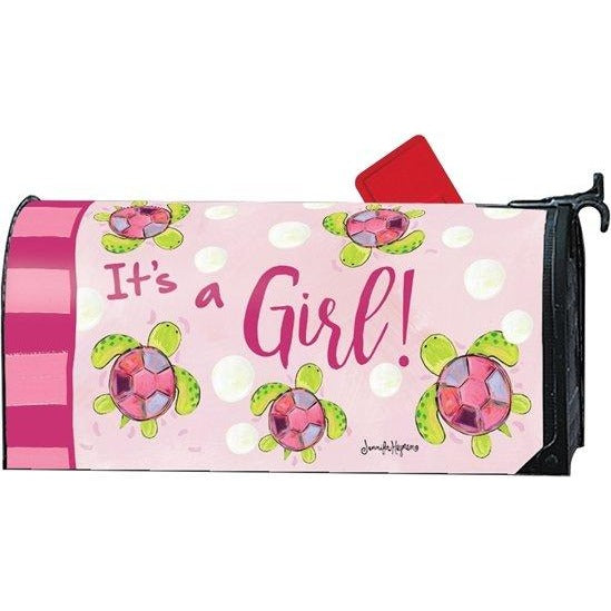 It's a Girl - Sea Turtle Standard Mailbox Cover
