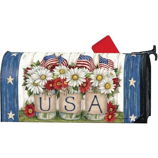 USA Mason Jar Standard Mailbox Cover - FlagsOnline.com by CRW Flags Inc.