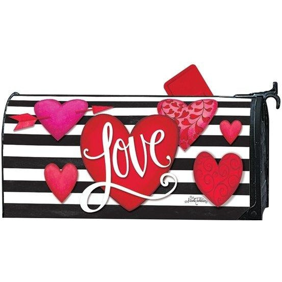 Heart with Stripe Standard Mailbox Cover