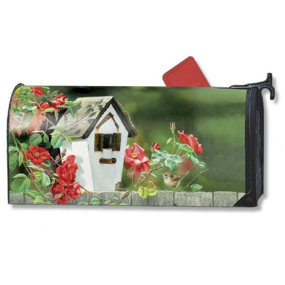 Rose Cottage Wrens Standard Mailbox Cover - FlagsOnline.com by CRW Flags Inc.