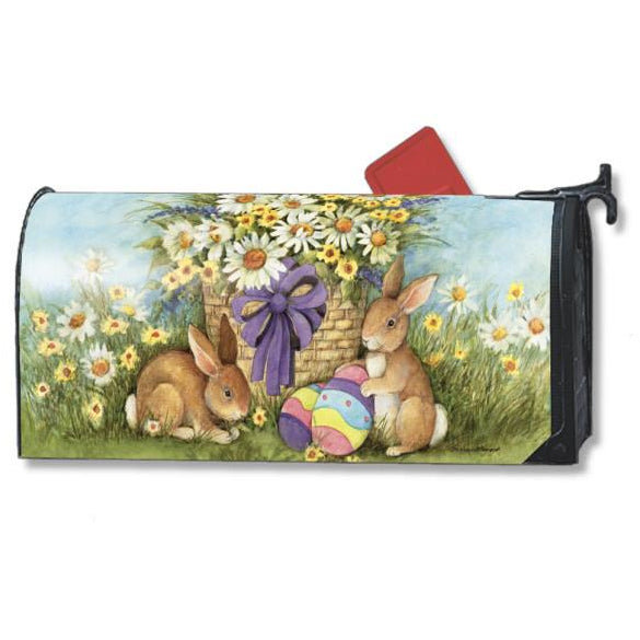 Easter Bunnies Standard Mailbox Cover