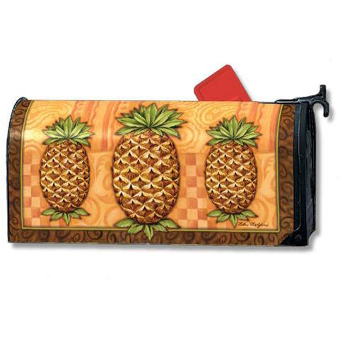 Pineapple Welcome Standard Mailbox Cover - FlagsOnline.com by CRW Flags Inc.