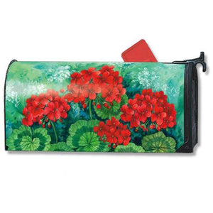 Scarlet Geraniums Standard Mailbox Cover - FlagsOnline.com by CRW Flags Inc.
