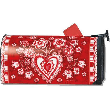Folk Valentine Standard Mailbox Cover - FlagsOnline.com by CRW Flags Inc.