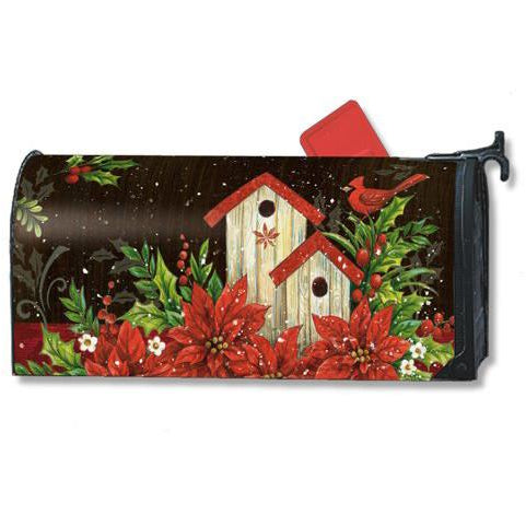 Winter Birdhouse Standard Mailbox Cover