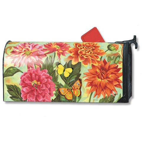 Dahlias Standard Mailbox Cover - FlagsOnline.com by CRW Flags Inc.