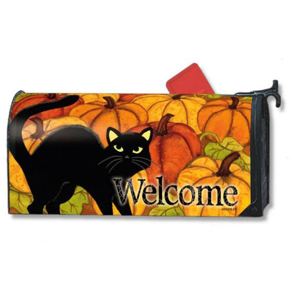 Pumpkin Patch Cat Standard Mailbox Cover - FlagsOnline.com by CRW Flags Inc.