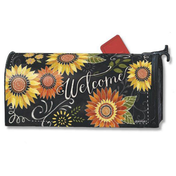 Sunflower Chalkboard Standard Mailbox Cover - FlagsOnline.com by CRW Flags Inc.