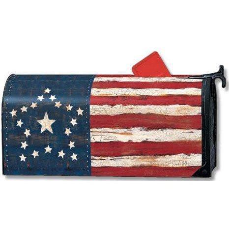 Antique Flag Standard Mailbox Cover