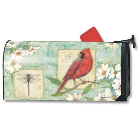 Dogwood Cardinal Standard Mailbox Cover - FlagsOnline.com by CRW Flags Inc.