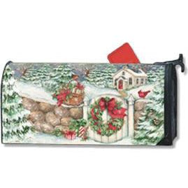 Snow Chapel Standard Mailbox Cover - FlagsOnline.com by CRW Flags Inc.
