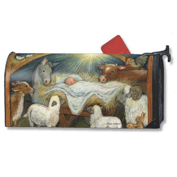 Christ Is Born Standard Mailbox Cover