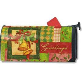 Patchwork Bells Standard Mailbox Cover - FlagsOnline.com by CRW Flags Inc.