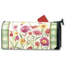 Wildflower Plaid Standard Mailbox Cover - FlagsOnline.com by CRW Flags Inc.
