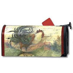 Script Rooster Standard Mailbox Cover - FlagsOnline.com by CRW Flags Inc.