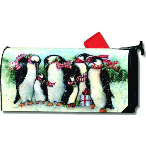 Penguin Party Standard Mailbox Cover - FlagsOnline.com by CRW Flags Inc.