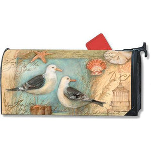 Seagulls & Shells Standard Mailbox Cover - FlagsOnline.com by CRW Flags Inc.