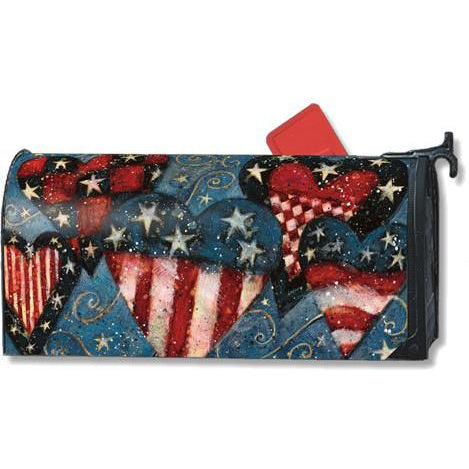 Patriotic Hearts Standard Mailbox Cover - FlagsOnline.com by CRW Flags Inc.