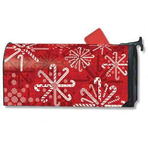 Peppermint Snowflakes Standard Mailbox Cover - FlagsOnline.com by CRW Flags Inc.
