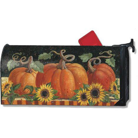 Pumpkins & Sunflowers Standard Mailbox Cover