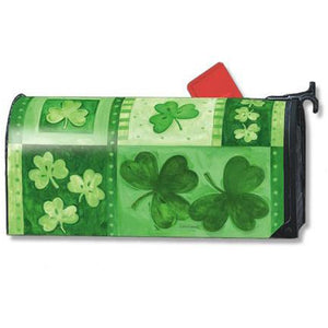 Shamrock Collage Standard Mailbox Cover - FlagsOnline.com by CRW Flags Inc.
