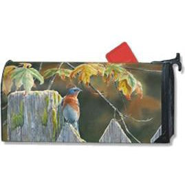 Garden Gate Bluebird Standard Mailbox Cover - FlagsOnline.com by CRW Flags Inc.