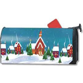 Winter Village Standard Mailbox Cover - FlagsOnline.com by CRW Flags Inc.