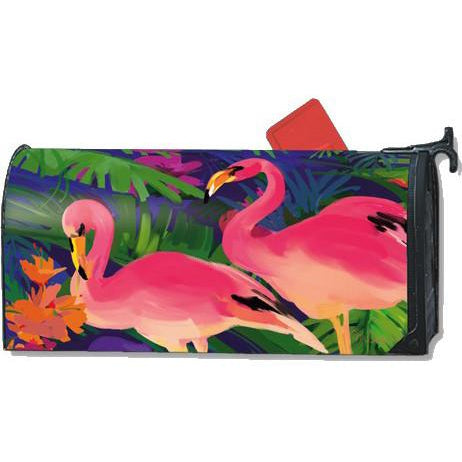 Pink Flamingos Standard Mailbox Cover
