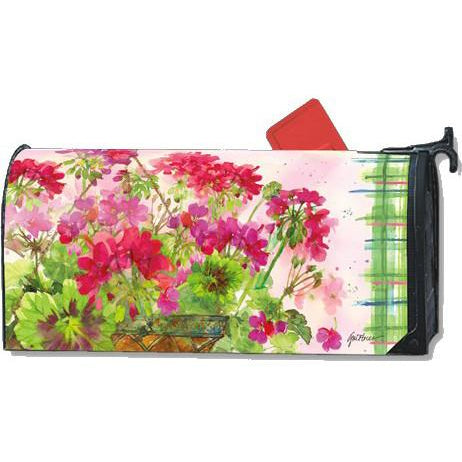 Geranium Basket Standard Mailbox Cover - FlagsOnline.com by CRW Flags Inc.
