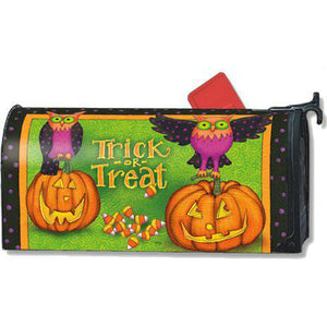 Trick Or Treat Owls Standard Mailbox Cover - FlagsOnline.com by CRW Flags Inc.