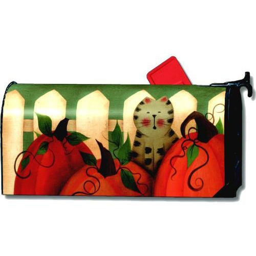 Pumpkin Kitty Standard Mailbox Cover - FlagsOnline.com by CRW Flags Inc.