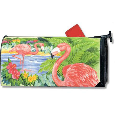 Flamingo Pair Standard Mailbox Cover - FlagsOnline.com by CRW Flags Inc.