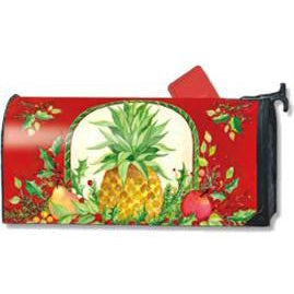 Holiday Pineapple Standard Mailbox Cover